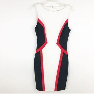 Bisou Bisou color blocking sheath dress